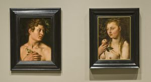 Adam and Eve by Hendrick Goltzius