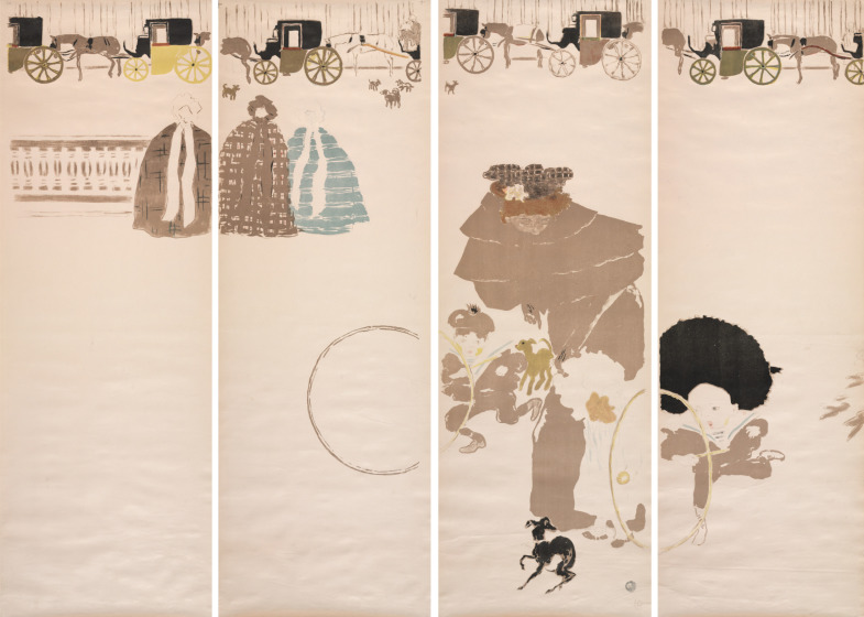 Pierre Bonnard, Nursemaids' Promenade, Frieze of Carriages, 1895, Color Lithograph, Cleveland Museum of Art, Gift of Nancy and Joseph P. Keithly