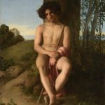 Hippolyte Flandrin, Seated Young Shepherd, oil on canvas,1834, (c) Musée des Beaux-Arts de Lyon. Photo: Alain Basset