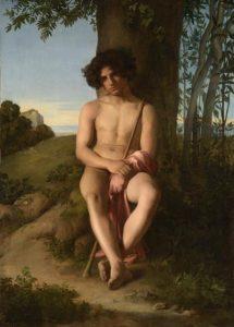 Hippolyte Flandrin, Seated Young Shepherd, oil on canvas,1834, (c) Musée des Beaux-Arts de Lyon. Photo: Alain Basset
