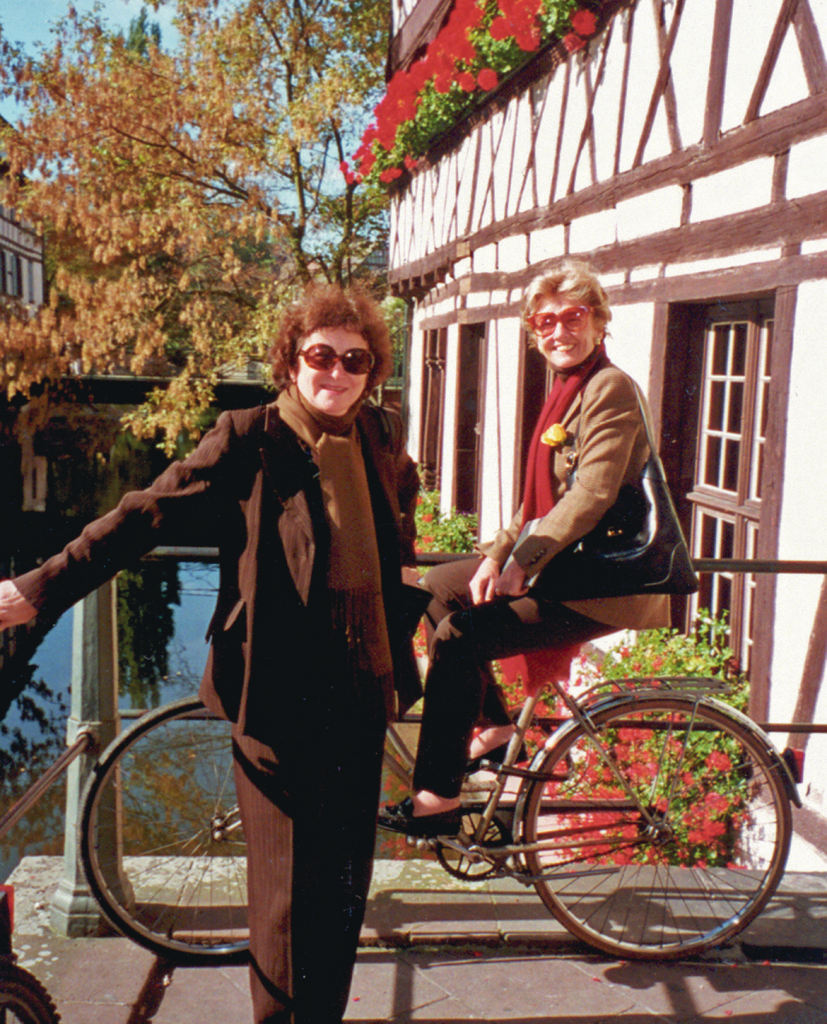 FRAME's Co-Founders, Francoise Cachin and Elizabeth Rohatyn, Strasbourg, 2002